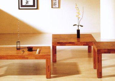 和テイストのリビングテーブルで和洋スタイルコーデを実現