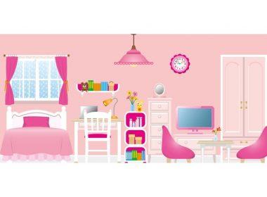可愛くガーリーにまとめるキュートな家具とインテリアコーデ例