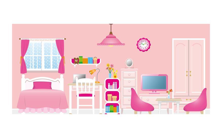 かわいくガーリーにまとめるキュートな家具とインテリアコーデ例