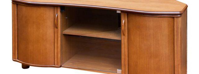 お部屋の角まで無駄なく活用できるコーナーテレビボード