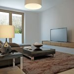 シンプルかつナチュラルなテレビボードの素材と配色