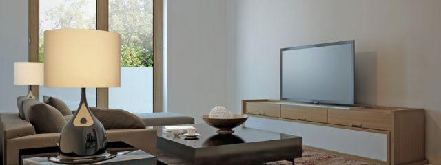 シンプルかつナチュラルな部屋に合わせるテレビボードの素材と配色