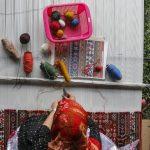 手織り絨毯のギャベ