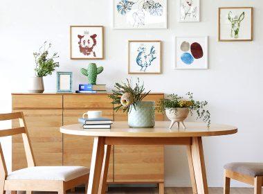 高野木工のアートパネル「BLUCANARIシリーズ」複数枚組み合わせて上質なモダン空間を演出